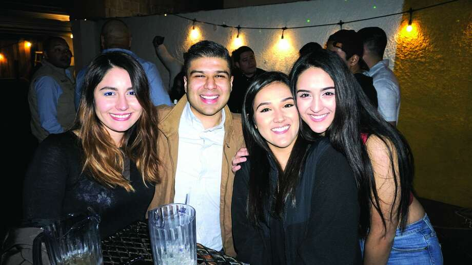 Ashley Henderson, Nicholas Canales, Lizeth and Jennifer Haro at The Happy Hour Downtown Bar