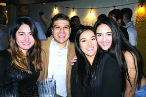 Ashley Henderson, Nicholas Canales, Lizeth and Jennifer Haro at The Happy Hour Downtown Bar   Friday, April 13, 2018