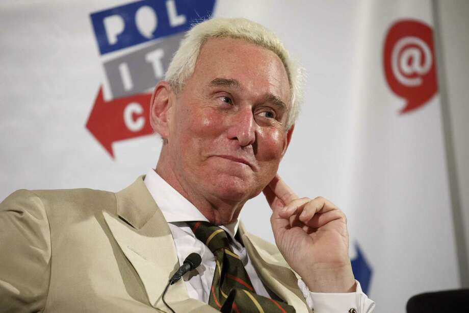 Roger Stone, former adviser to Donald Trump's presidential campaign, listens during the Politicon convention inside the Pasadena Convention Center in Pasadena, California, U.S., on Saturday, July 29, 2017. During the third annual Politicon pundits, politicians, comedians and entertainers gather to discuss issues that touch all sides of the political spectrum. (Patrick T. Fallon/Bloomberg) Photo: Patrick T. Fallon / © 2017 Bloomberg Finance LP