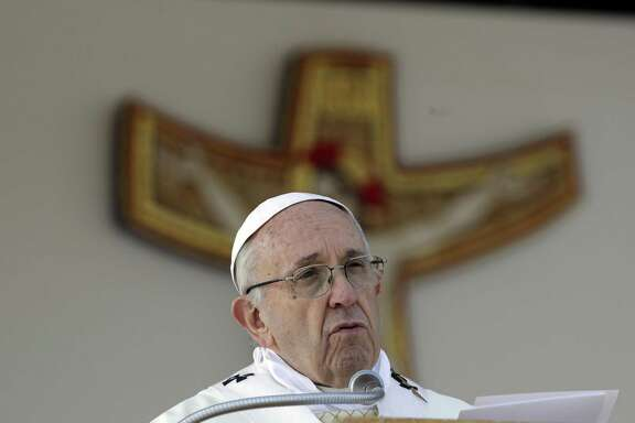 "In a 2013 interview Pope Francis said: ""I see clearly that the thing the church needs most today is the ability to heal wounds and to warm the hearts of the faithful."" (AP Photo/Gregorio Borgia)"