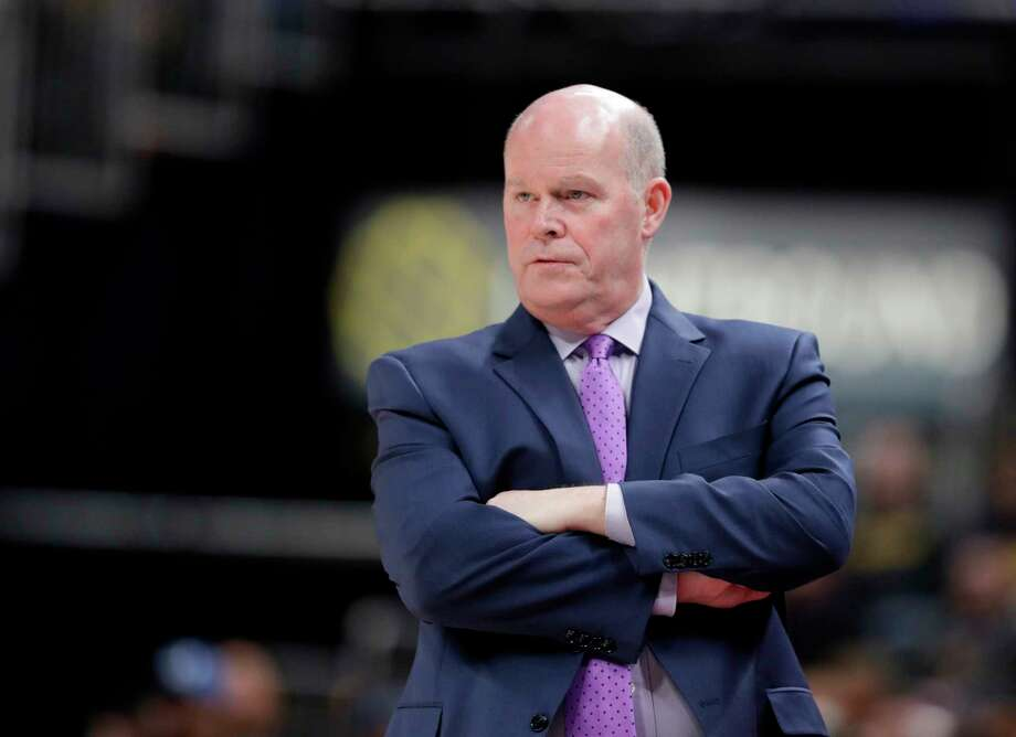 Charlotte Hornets head coach Steve Clifford watches during the second half of an NBA basketball game against the Indiana Pacers, Tuesday, April 10, 2018, in Indianapolis. Charlotte won 119-93. (AP Photo/Darron Cummings) Photo: Associated Press / Copyright 2018 The Associated Press. All rights reserved.