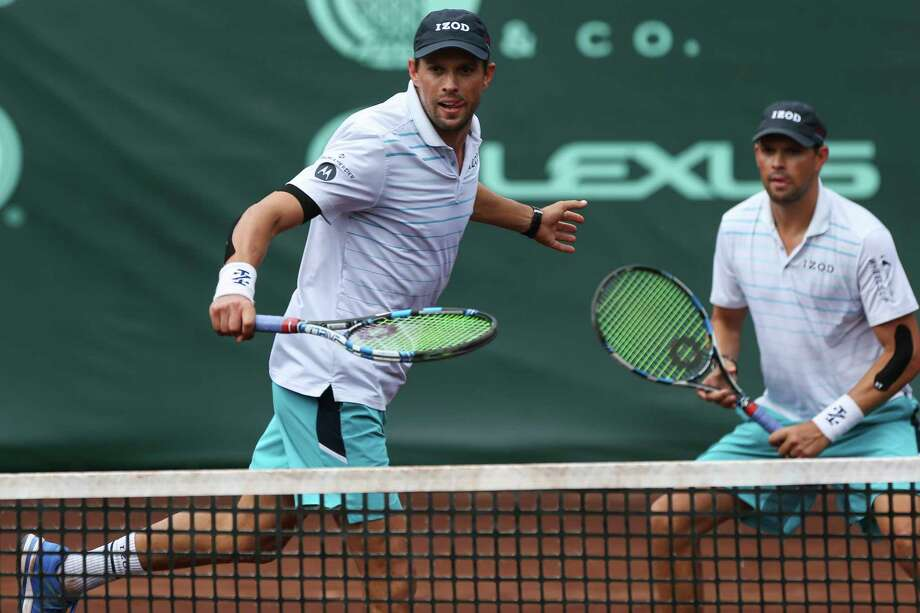Mike Bryan, left, and identical twin brother Bob have dominated men's doubles play over the years. They turn 40 at month's end but show no signs of slowing down. Photo: Yi-Chin Lee, Houston Chronicle / © 2018 Houston Chronicle