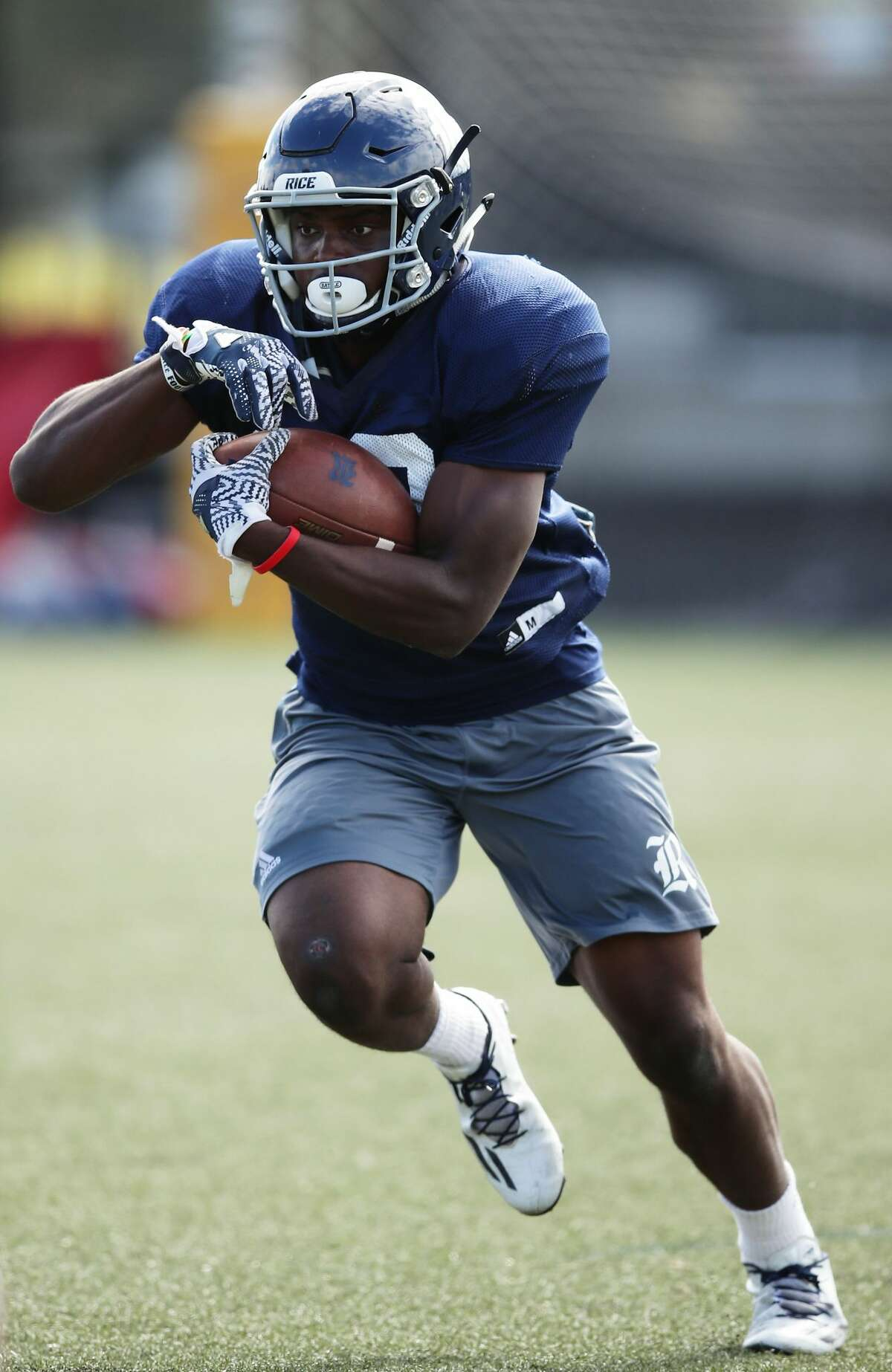 SYDNEY, AUSTRALIA - AUGUST 24: Anthony Ekpe runs during a Rice University College Football training session at David Phillips Sports Complex on August 24, 2017 in Sydney, Australia. (Photo by Matt King/Getty Images)