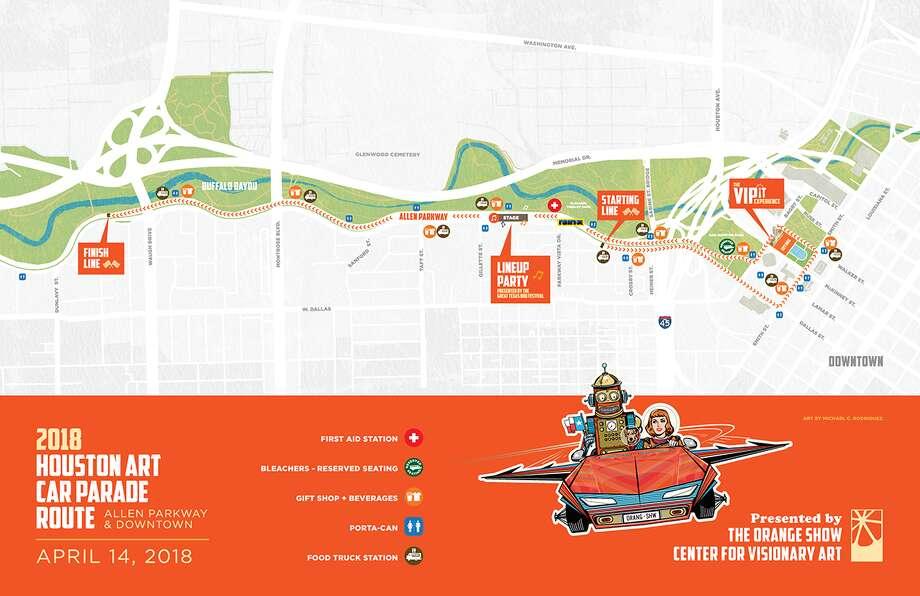 The 2018 Houston Art Car Parade Route Photo: Houston Art Car Parade