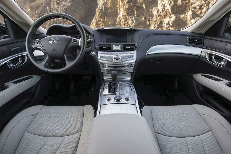 The Q70 has standard 10-way power driver and front passenger seats, two-way power lumbar support and can store settings for the driver's seat, steering column and outside mirrors for two different operators.
