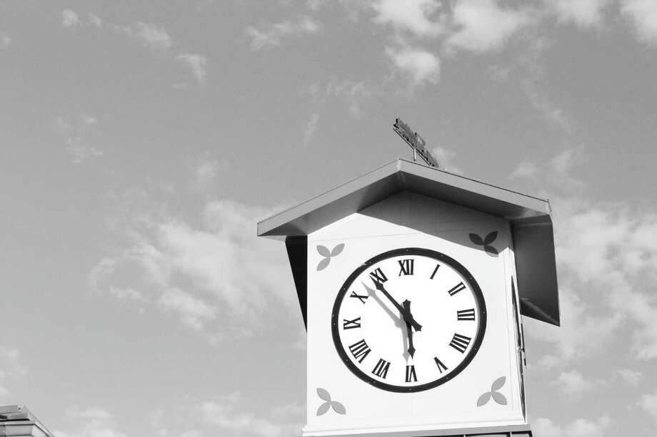 Father time -- Picture taken on Pine Street, above New Canaan Wine Merchants Photo: /