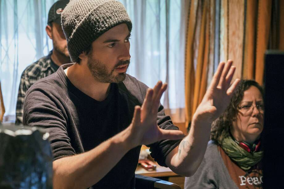 """Jason Reitman directs on the set of """"Tully."""" Photo: Kimberly French / Focus Features"""