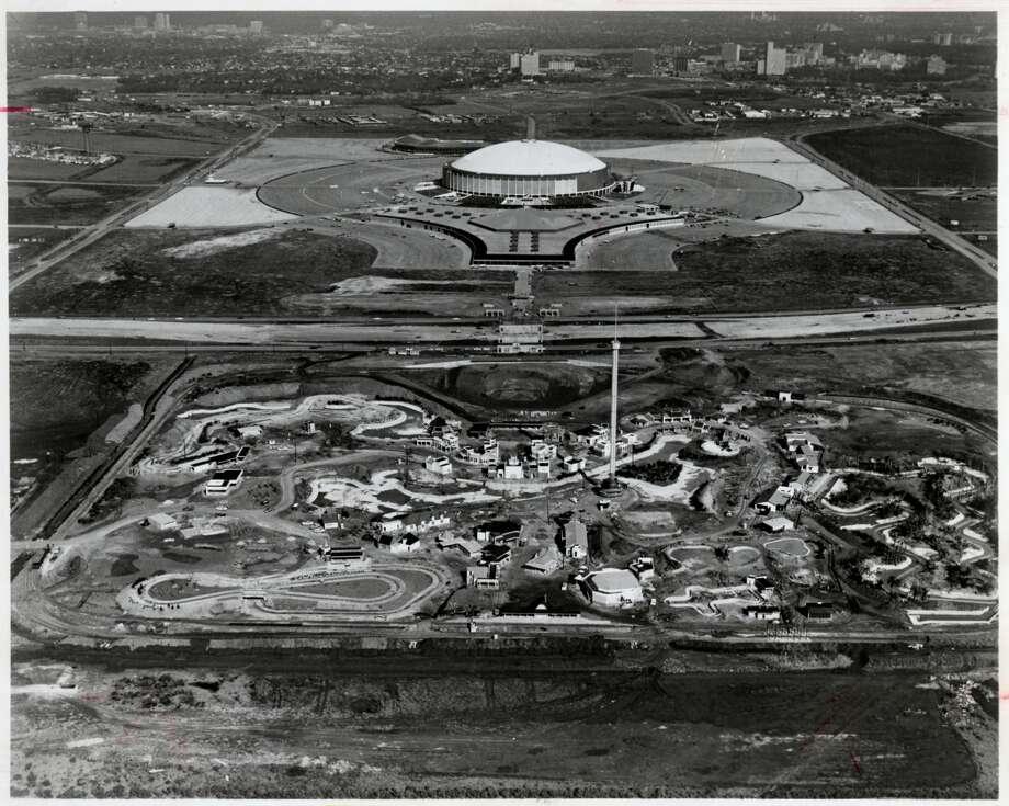 Astroworld and Astrodome - January 1968. Photo: Gulf Photo