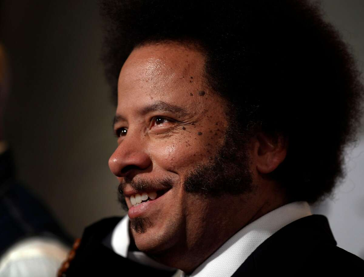 Boots Riley being interviewed on the red carpet as the San Francisco Film Festival premiered his film