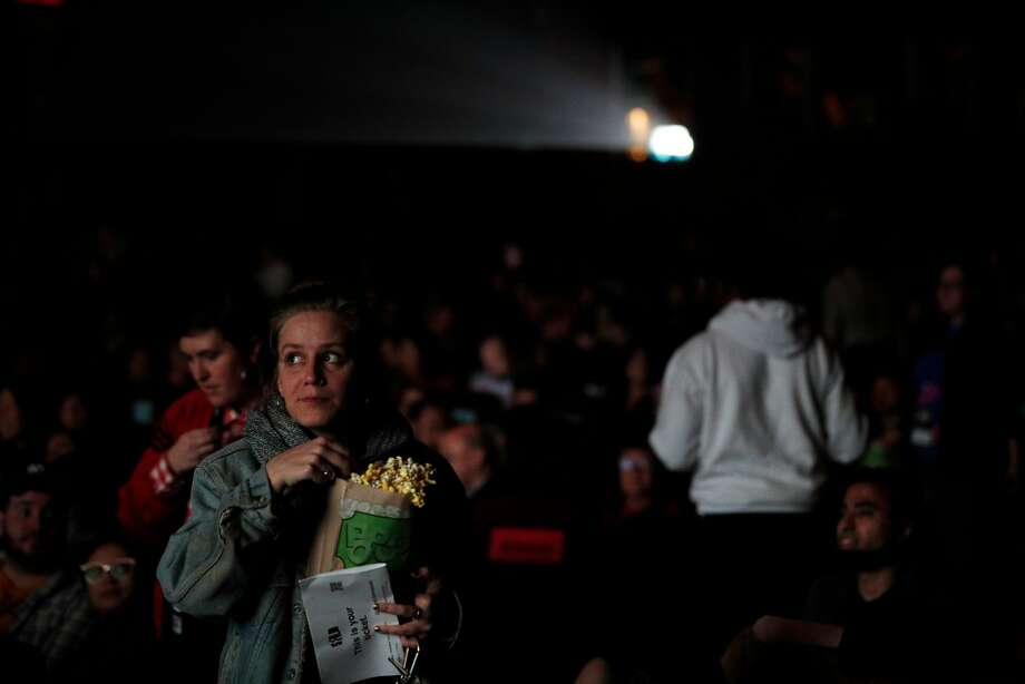 Filmgoers take their seats for the premiere at the Grand Lake Theater in Oakland, where the movie was filmed. Photo: Carlos Avila Gonzalez / The Chronicle
