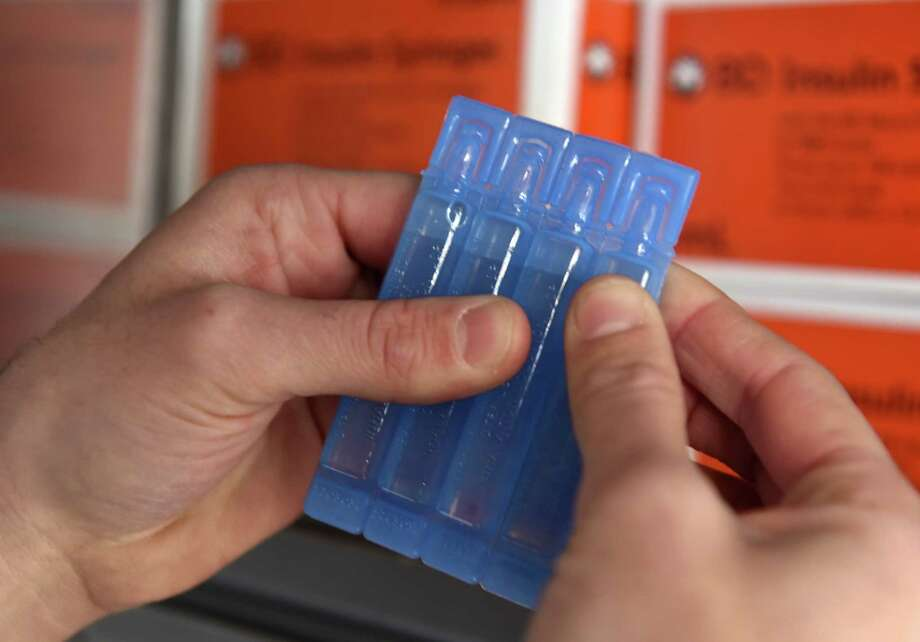 Packets of sterile water are shown at Project Safe Point's needle exchange van on Wednesday, April 11, 2018, in Albany N.Y. The program also provides other items used by IV drug users that, if shared, can spread diseases such as hepatitis C. (Will Waldron/Times Union) Photo: Will Waldron / 20043482A