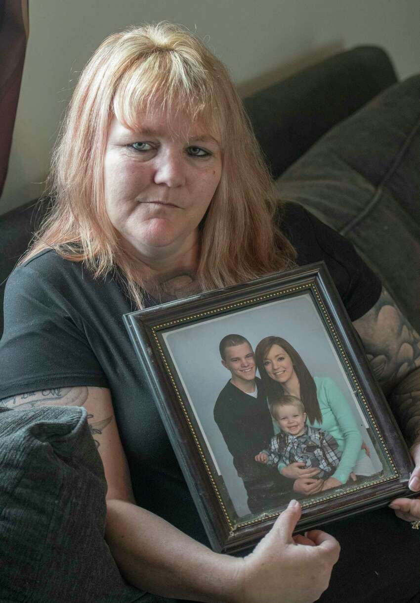 Tracy Minor's son, 20-year-old McKinley David Desnoyers, died after spending days on a ventilator in 2015. Someone had left him outside the front door of Ellis Hospital passed out on drugs. His wallet was gone. She would later learn his friends stole it, along with everything else of value on him.