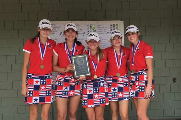 The Clear Lake girls' golf team will compete April 24-25 in the Region III-6A tournament in Mont Belvieu. Team members are (left to right) Julia Webb, Elise Tanzberger, Stephanie Banach, Juliana Hickman and Mallary Stroh.