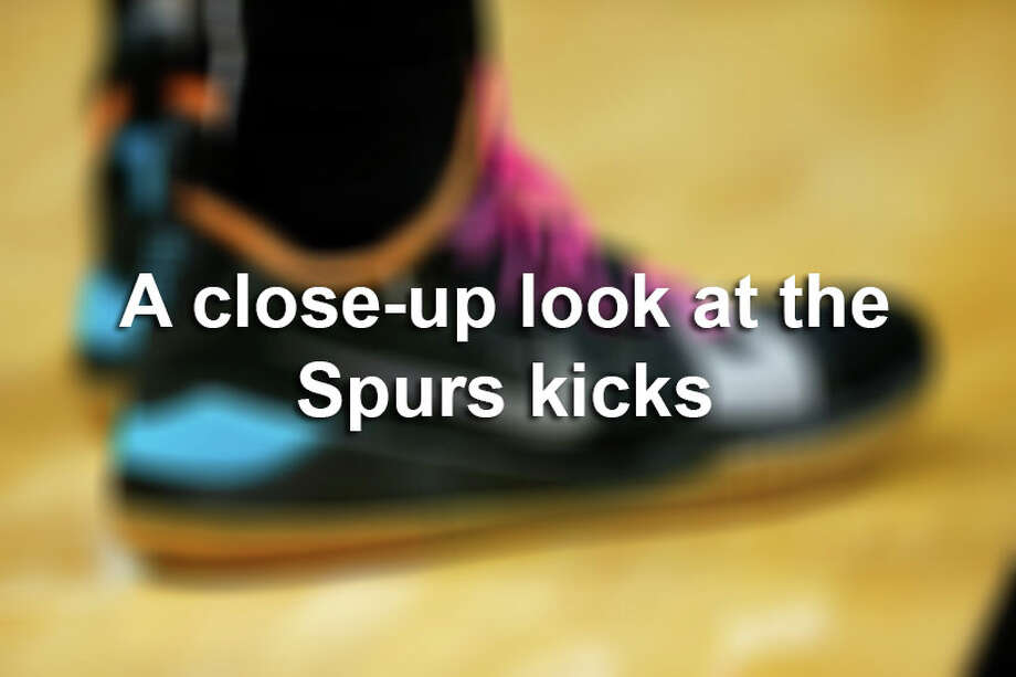 Click through for a closer look at the player editions and custom colorways the Spurs players rock in games. Photo: SAEN / 2018 Michael Reaves