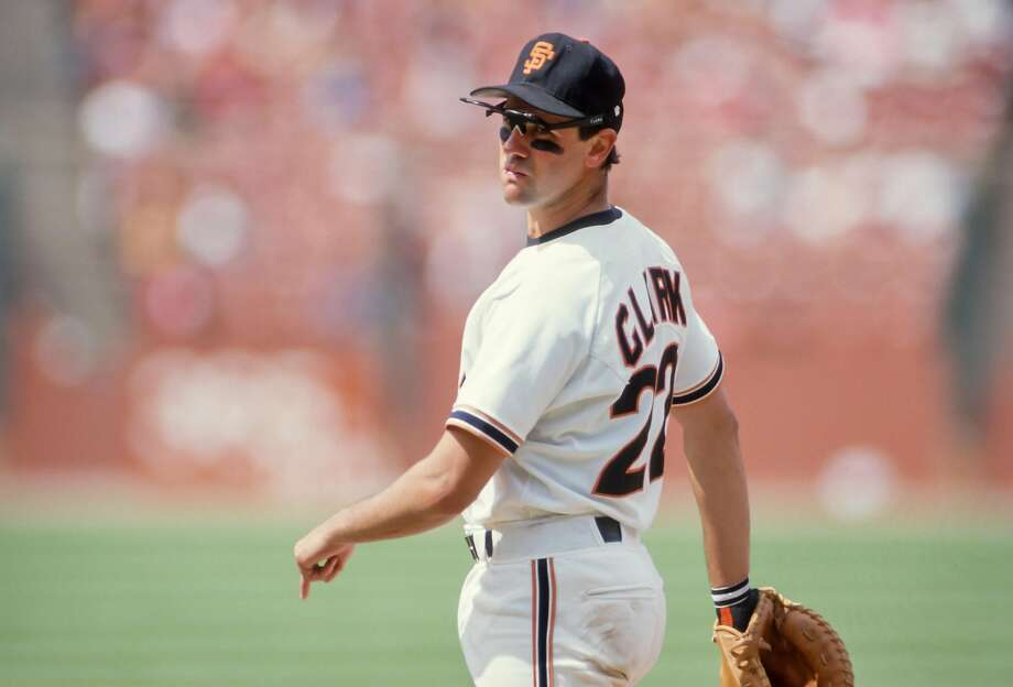 Will Clark of the San Francisco Giants plays against the St. Louis Cardinals in 1988 at Candlestick Park in San Francisco. Photo: David Madison / Getty Images