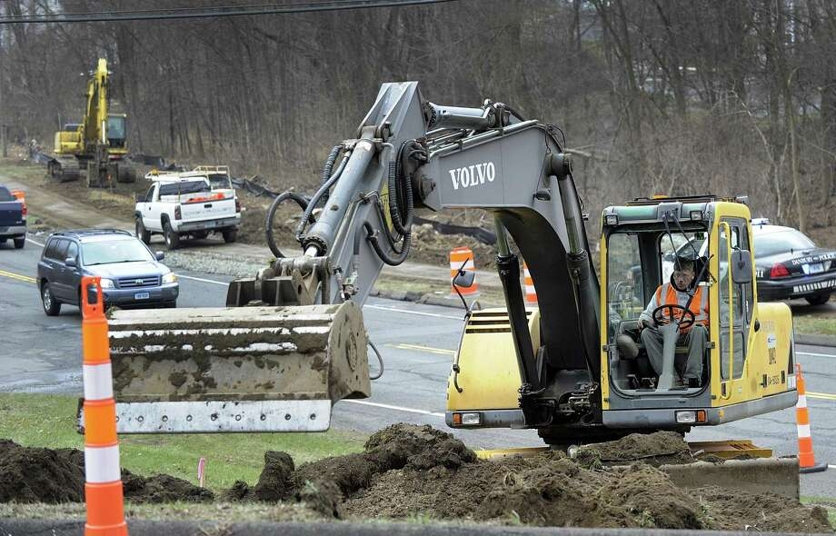 The Connecticut Department of Transportation project between Stacey and Barnum Roads in Danbury realigns a section of Route 37 to increase visibility, and will include adding a traffic signal at Stacey Road. Photo: Carol Kaliff / Hearst Connecticut Media / The News-Times