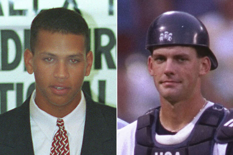 In their younger days, ESPN analyst Alex Rodriguez (left) and Astros manager A.J, Hinch were teammates on USA Baseball's under-18 national team in 1992. Hinch did get to play in the Olympics while Rodriguez was beginning his long MLB career. Photo: Houston Chronicle News Services