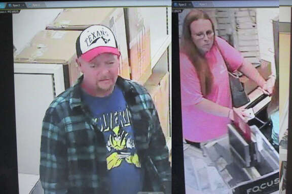 A man and woman seen on surveillance video are wanted for robbing a Kohl's department store in west Harris County earlier this year, and authorities are willing to pay up to $5,000 for help finding them. Houston Crime Stoppers offers a reward up to $5,000 for anyone who provides info to help find the robbers. Anyone with information is urged to call 713-222-TIPS (8477)