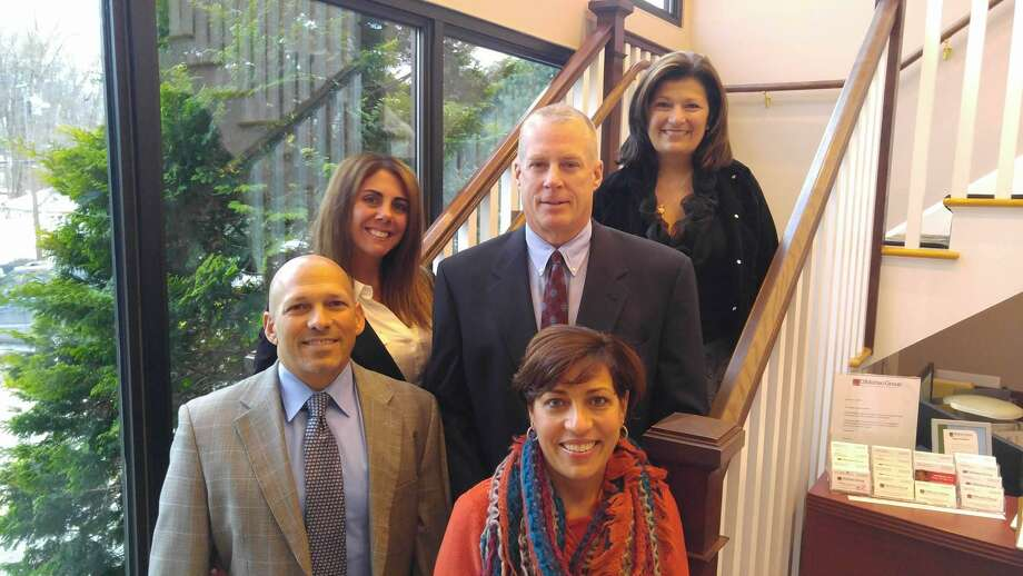 From left, front, are John DiMatteo of Bethany and Loretta Lesko of Shelton; middle, from left, are Kim DiMatteo of Bethany and Robert Lesko of Shelton; at rear is Rosemarie Esposito of Shelton. Photo: Contributed Photo