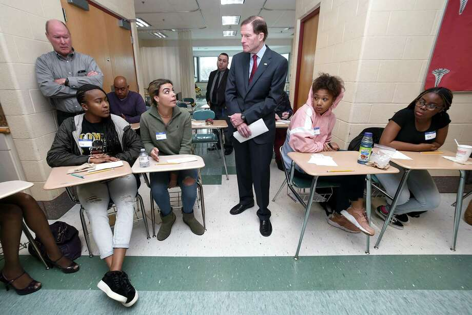 Blumenthal Visits Career High School To Observe Mental Health First