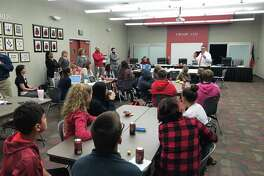 Crosby Middle School students met with district officials and architects and gave their input on the 6th grade campus in terms of design.