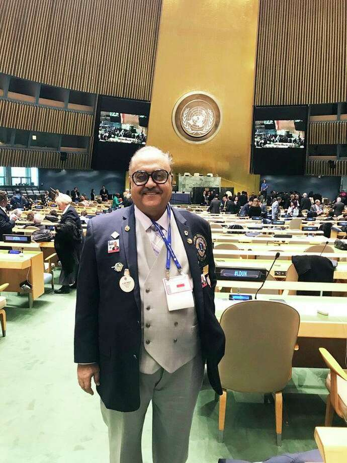 Dr. Sami Makhoul is pictured inside the United Nations General Assembly Hall. (Courtesy Photo)