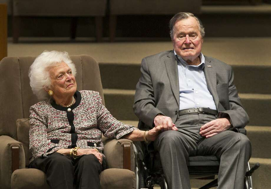 The Mensch International Foundation presented its annual Mensch Award to former President George H.W. Bush and former First Lady Barbara Bush at an awards ceremony hosted by Congregation Beth Israel Wednesday, March 8, 2017, in Houston. ( Steve Gonzales  / Houston Chronicle ) Photo: Steve Gonzales, Houston Chronicle