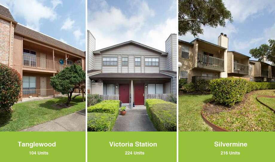 Better World Cos. and HM Equity Management Partner have purchased the 104-unit Tanglewood Apartments, the 224-unit Victoria Station Apartments and the 216-unit Silvermine Apartments in Victoria. Photo: Better World Cos.