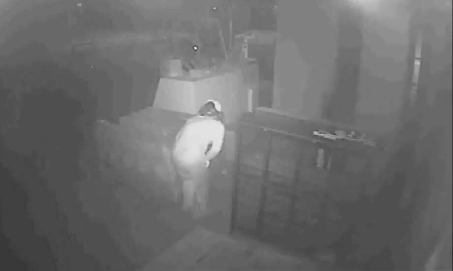 The complainant said a man and a woman entered a small building behind the main building by breaking the front door. The suspects are seen on video going from room to room. They damaged the business' cameras and then left the store with computer equipment valued at more than $2,000.  Photo: Midland Crime Stoppers