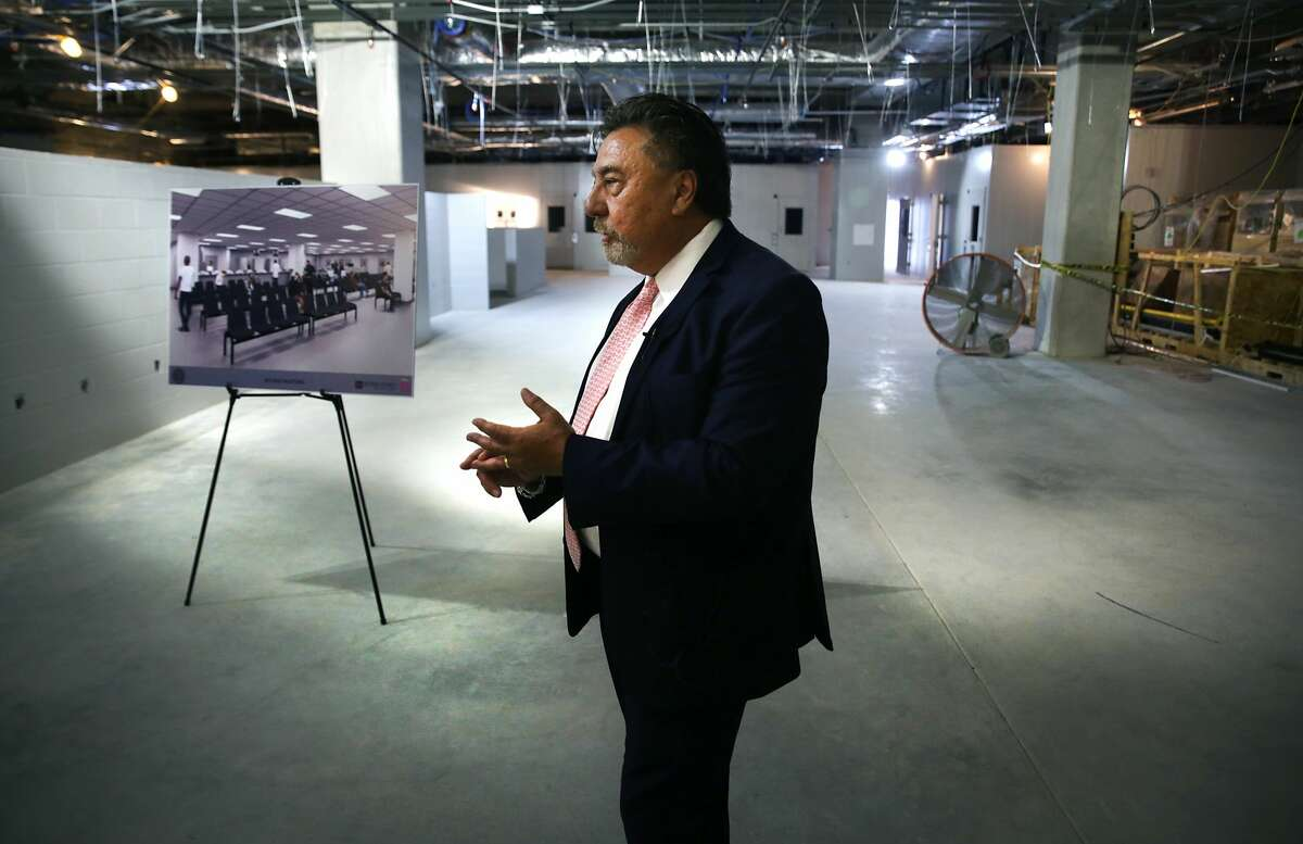 Bexar County Director Judical Services Mike Lozito gives a tour of the new Bexar County Justice Intake and Assessment Center which has been built next to the Bexar County Jail, on Friday, April 13, 2018.Click through the photos to check out a look inside.