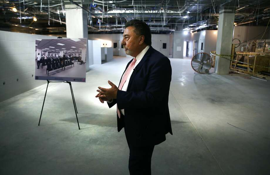 Bexar County Director Judical Services Mike Lozito gives a tour of the new Bexar County Justice Intake and Assessment Center which has been built next to the Bexar County Jail, on Friday, April 13, 2018.Click through the photos to check out a look inside.  Photo: Bob Owen/San Antonio Express-News
