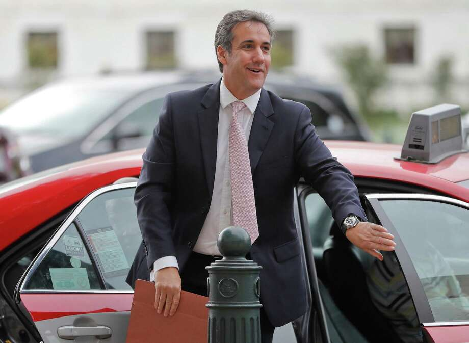 Michael Cohen, President Donald Trump's personal attorney, arrives on Capitol Hill in September. For more than a decade, Cohen has served as Trumps private attorney and image protector. The FBI's raids on Cohen's office and hotel room to seize records on that payment and others is not good news for the president. Photo: Pablo Martinez Monsivais /Associated Press / Copyright 2017 The Associated Press. All rights reserved.