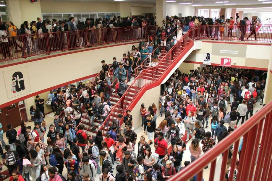 Texas' student populations have become more diverse — and educational inequality still exists in the state. Here, students pour into the Judson High School hallway last year. Photo: Courtesy Photo /Courtesy Photo