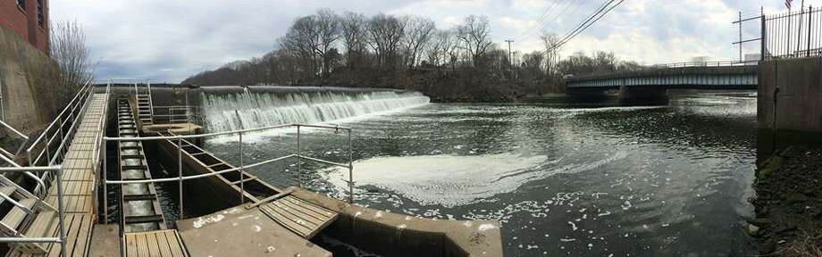 The Greenwich Conservation Commission is hosting a Fishway Open House on April 21, 2018 at 125 River Road Extension, Cos Cob, Conn. to celebrate World Fish Migration Day. Above is a panorama of the fishway, which helps migrating fish swim over dams by weakening powerful currents. Photo: Contributed Photo / Contributed / Greenwich Time Contributed