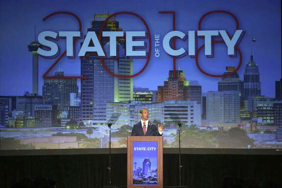 Mayor Ron Nirenberg speaks during his state of the city address April 10 at the San Antonio Convention Center. Nirenberg discussed his mass transit proposal, which a reader opposes.
