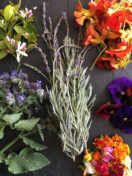 Assorted edible flowers. Photo: Sarah Fritsche / The Chronicle