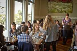 Diners enjoy lunch at Plow Restaurant in San Francisco, Calif., on Wednesday, January 24th, 2012.