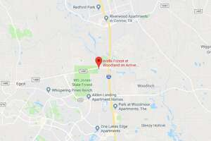 Conroe Police officers were dispatched to the Arella Forest at Woodland apartment complex around 6 p.m. Thursday, the department said, after a 71-year-old woman said she was assaulted by a man she did not know.