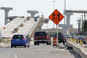 A view of the access road of southbound Loop 410 approaching Texas 151 is shown in this Aug. 6 photo. The connector from southbound Loop 410 to westbound Texas 151 is expected to open Saturday.