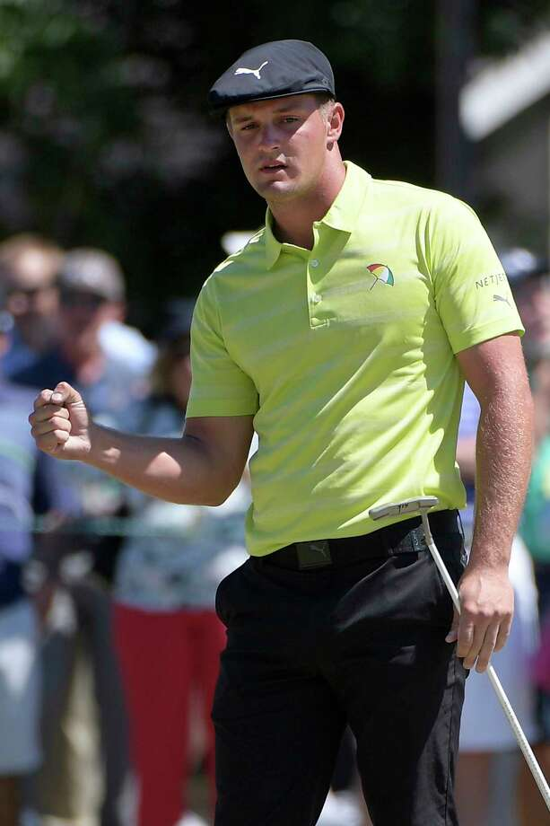 Bryson DeChambeau pumps his fist after making a putt for birdie on the second green during the third round of the Arnold Palmer Invitational golf tournament Saturday, March 17, 2018, in Orlando, Fla. (AP Photo/Phelan M. Ebenhack) Photo: Phelan M. Ebenhack / FR121174 AP