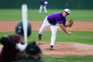 Willis pitcher Brandon Birdsell delivers a pitch against Magnolia West on Friday in Willis.