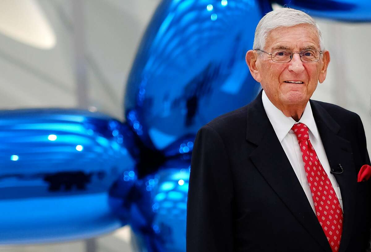 Eli Broad poses for a photo at his new museum called