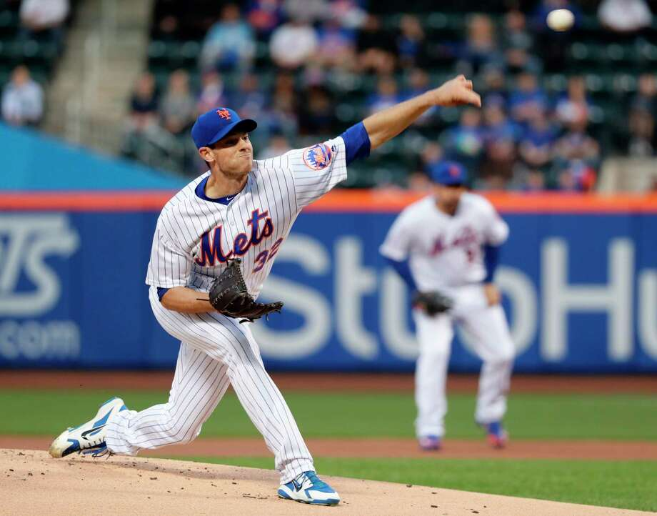 New York Mets' Steven Matz (32) delivers a pitch during the first inning of a baseball game against the Milwaukee Brewers, Friday, April 13, 2018, in New York. (AP Photo/Frank Franklin II) Photo: Frank Franklin II / Copyright 2018 The Associated Press. All rights reserved.