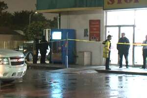 A man was found dead from a gunshot wound outside an west Houston convenience store Friday night, Houston Police said. There are no witnesses in the shooting near Boone Road and Harwin Drive, but police found one bullet shell casing by the victim, and other people told police they heard a gunshot around 9:15 p.m.      A man was found dead from a gunshot wound outside an west Houston convenience store Friday night, Houston Police said. There are no witnesses in the shooting near Boone Road and Harwin Drive, but police found one bullet shell casing by the victim, and other people told police they heard a gunshot around 9:15 p.m.