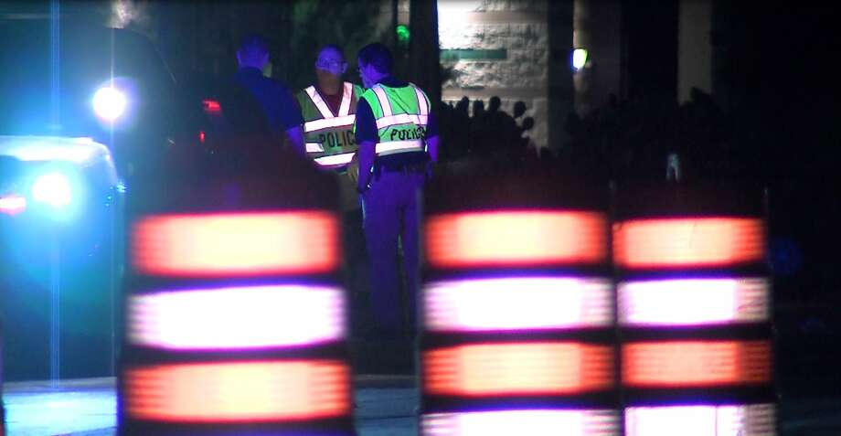The victims, who have not been identified, were traveling southbound on the access road of Loop 1604 at Military Drive around 3:15 a.m. with a group of other motorcyclists. Photo: J.J. Trevino/21 Pro Video