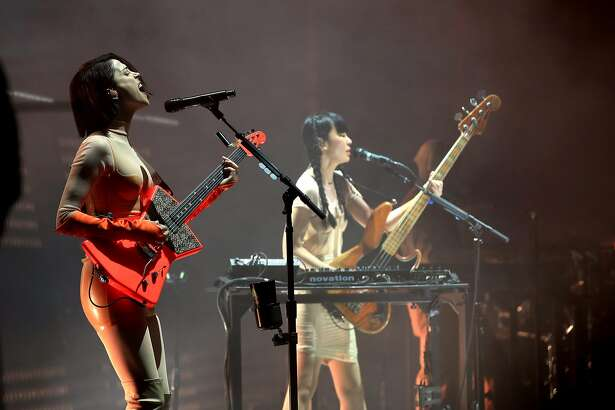 INDIO, CA - APRIL 13: Recording Artist Annie Clark of St. Vincent performs onstage during the 2018 Coachella Valley Music And Arts Festival at the Empire Polo Field on April 13, 2018 in Indio, California. (Photo by Christopher Polk/Getty Images for Coachella)