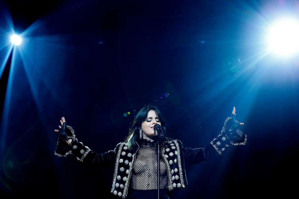 Camila Cabello performs at the Fox Theater, Friday, April 13, 2018, in Oakland, Calif.