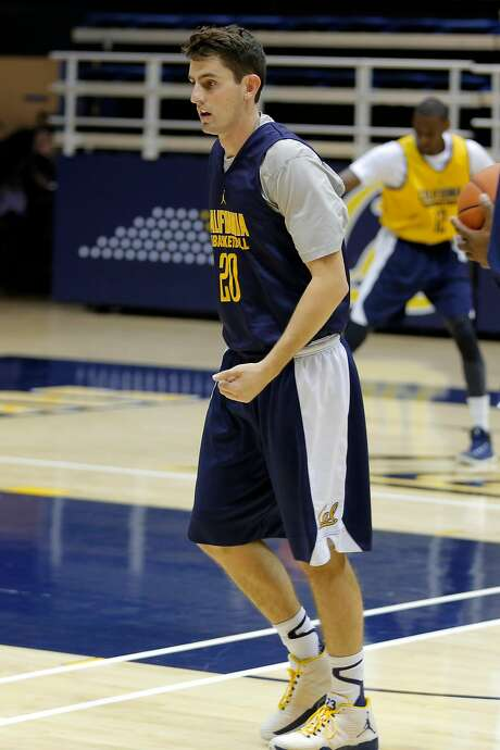 Guard Nick Kerr runs a drill during Cal Bears men's basketball practice in Berkeley, California, on Wednesday, Oct. 7, 2015. Photo: Connor Radnovich / The Chronicle