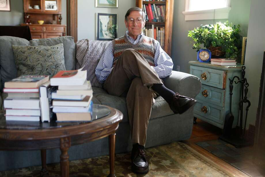Gerald Nachman, at home in a sweater vest, was a columnist and critic at The Chronicle and the author of several books that focused on his favorite topics. Photo: Mike Kepka / The Chronicle 2009