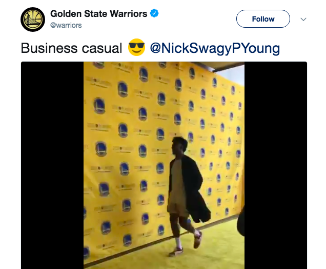 Swaggy P shows up to Game 1 in silk robe and boxers, stuns internet